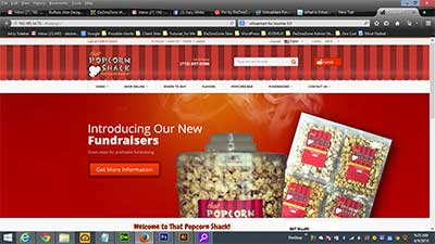 VirtueMart eCommerce for That Popcorn Shack